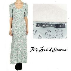 For Love And Lemons Montana Maxi Dress Mint